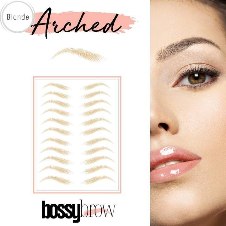 1 Rated 4d Temporary Eyebrow Tattoo Stickers Ships From Usa Bossybrow In 2020 Face Shape Contour Eyebrow Tattoo Brows