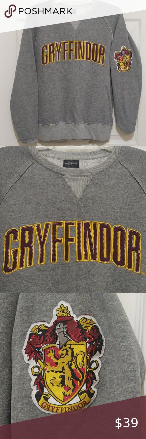 Harry Potter Gryffindor Crew Neck Sweatshirt Crew Neck Sweatshirt Sweatshirts Harry Potter Gryffindor [ 1740 x 580 Pixel ]
