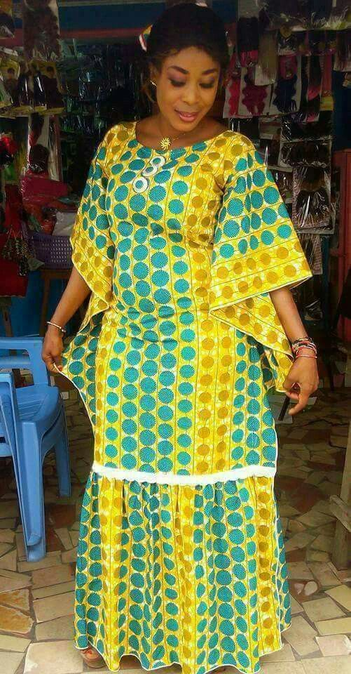 Bobou Robe Robe Africaine Mode Africaine Robe Et Mode