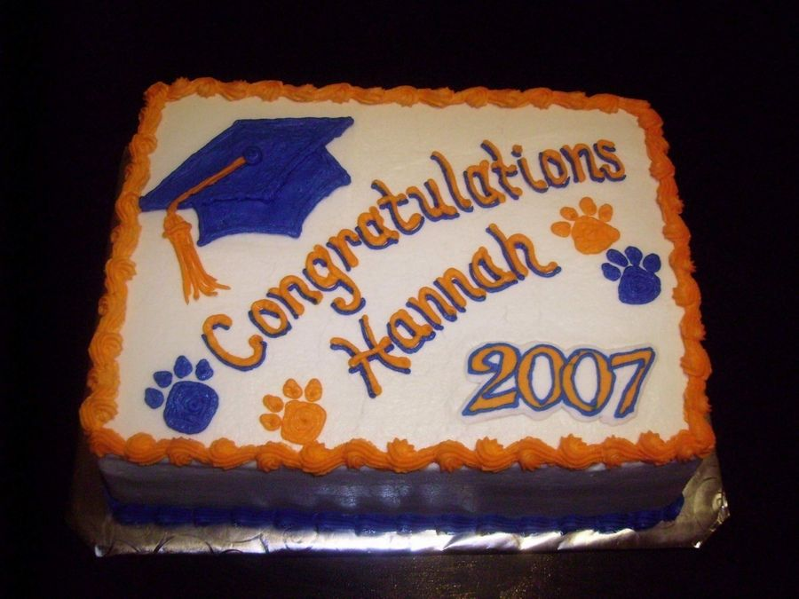 High Schools Graduation Cakes Design Pin School Colors ...