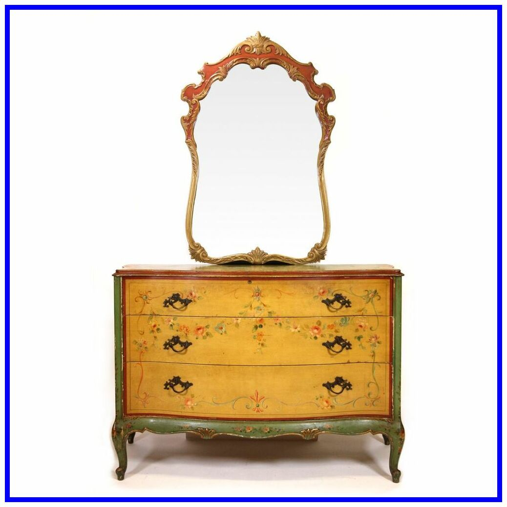 46 Reference Of Dresser Antique Edgemont Dresser In 2020 Hand Painted Dressers Mirrored Furniture Painted Dresser
