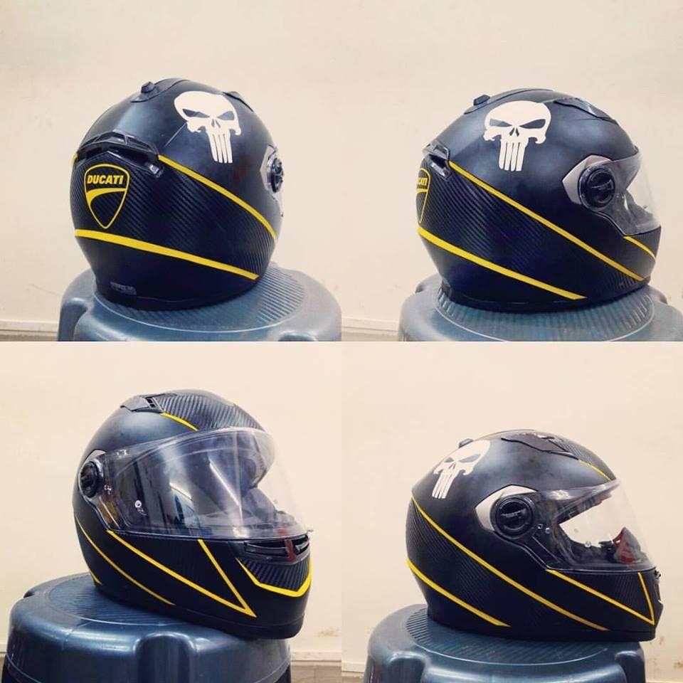 Lshelmetcustomgraphicsdoneusinghexisdaffodilyellowand - Custom graphic vinyl decals for motorcycle helmets