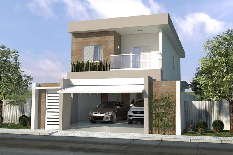 Planta de sobrado com 3 quartos fachada casa 2 andares for Fachadas de casas modernas de 2 quartos