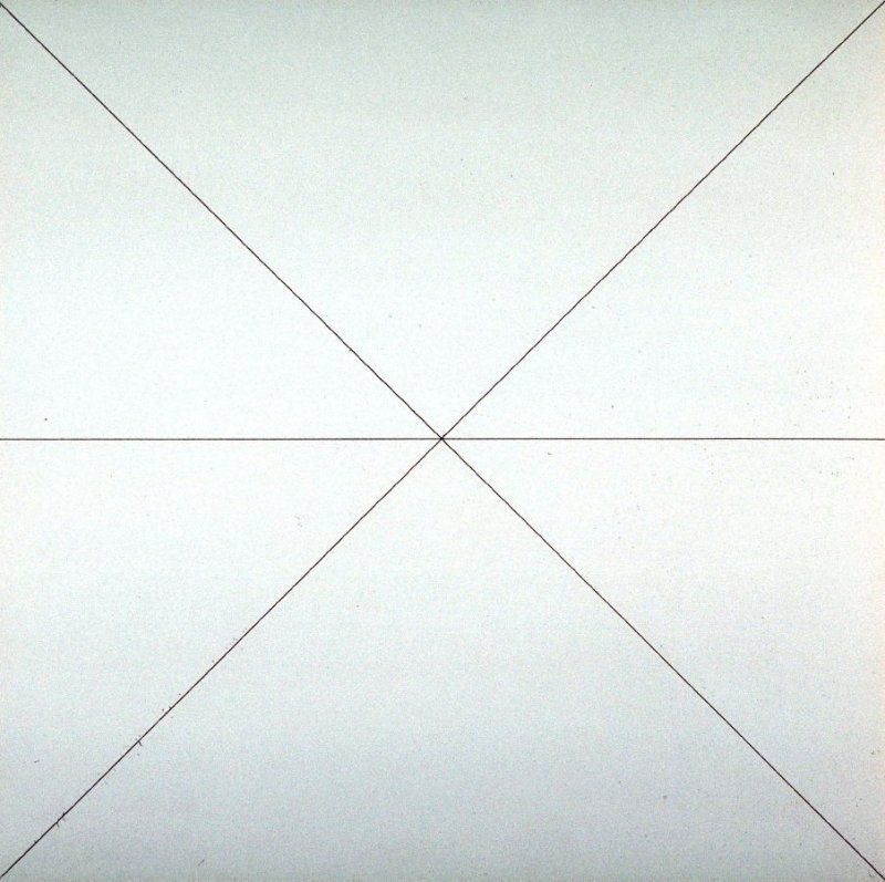 Pl. 13 from the set, Straight Lines in 4 Directions, Sol LeWitt, 1973