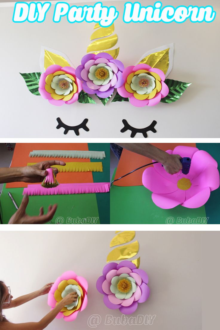 Party decoration - unicorn theme - do it yourself DIY ...