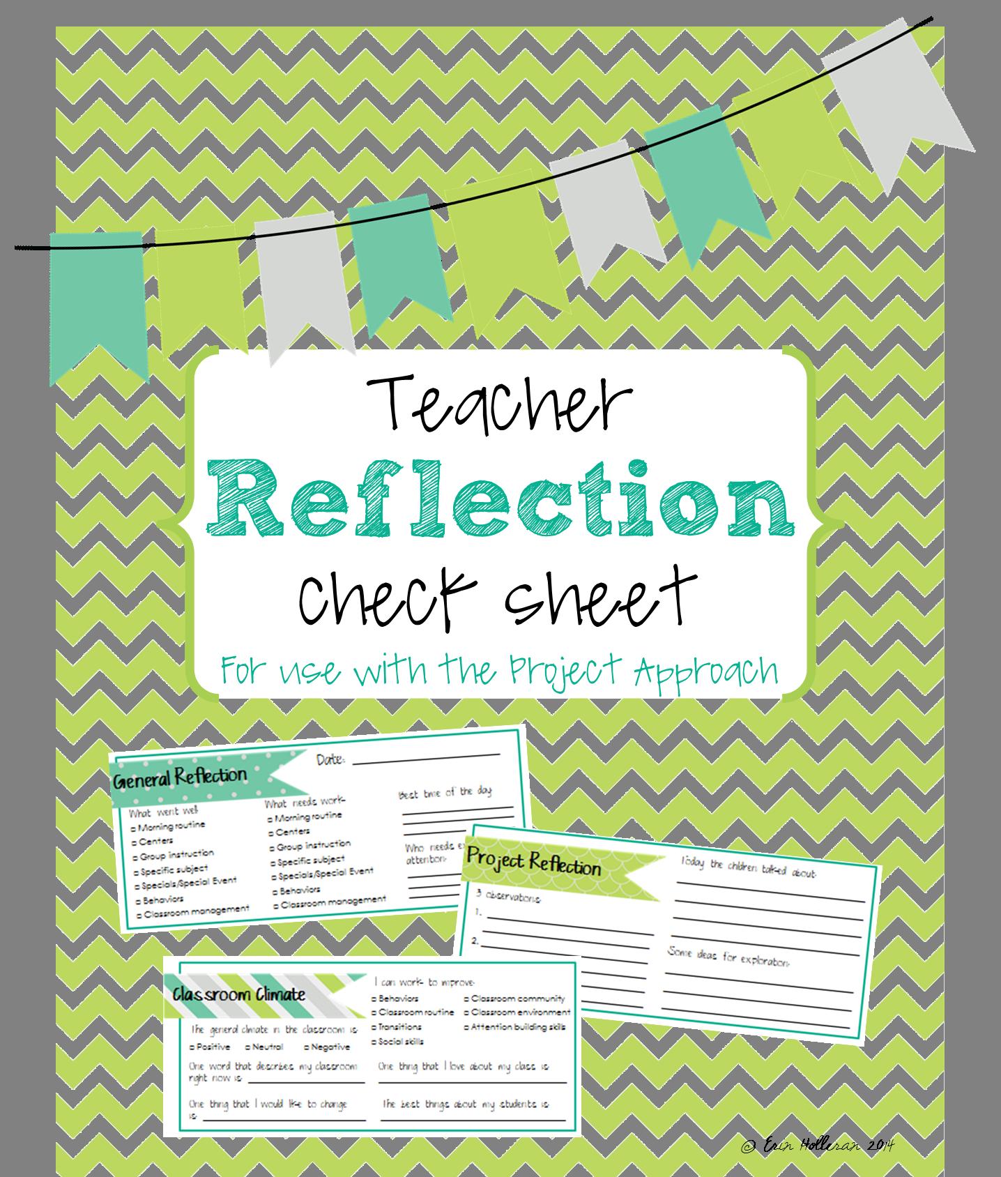 Teacher Reflection Checklist