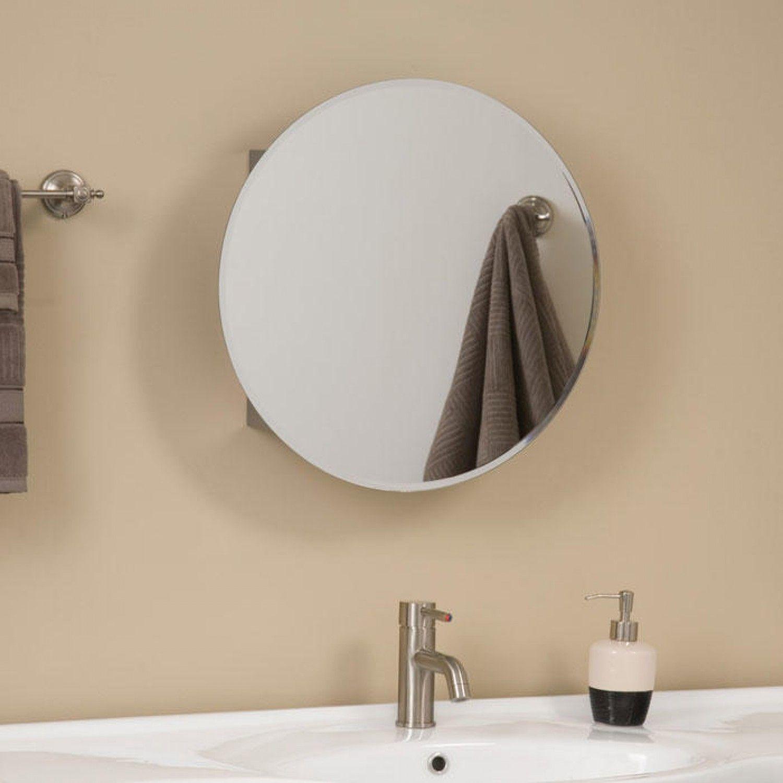 19 3 4 X 4 1 4 L Or R Ellipse Stainless Steel Medicine Cabinet With Round Mirror 10 Round Mirror Bathroom Bathroom Mirror Cabinet Medicine Cabinet Mirror