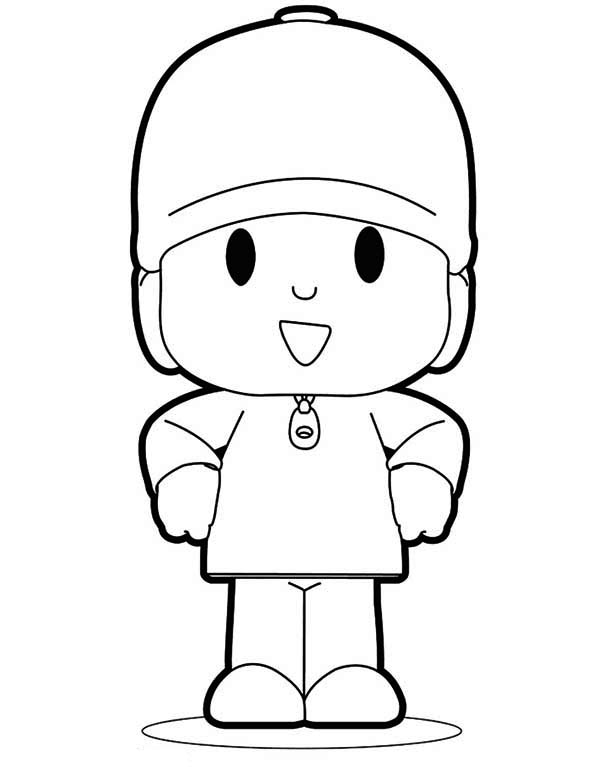 Awesome Pocoyo Coloring Page Color Luna In 2020 Kleurplaten Manualidades Knutselen