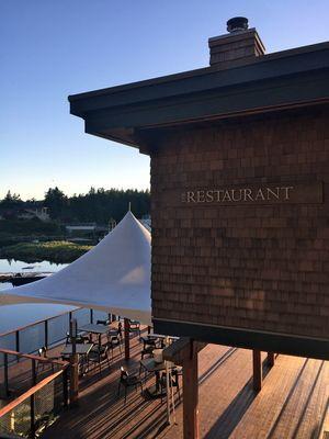 The Restaurant at Painted Boat Resort, Sunshine Coast, BC, Canada.