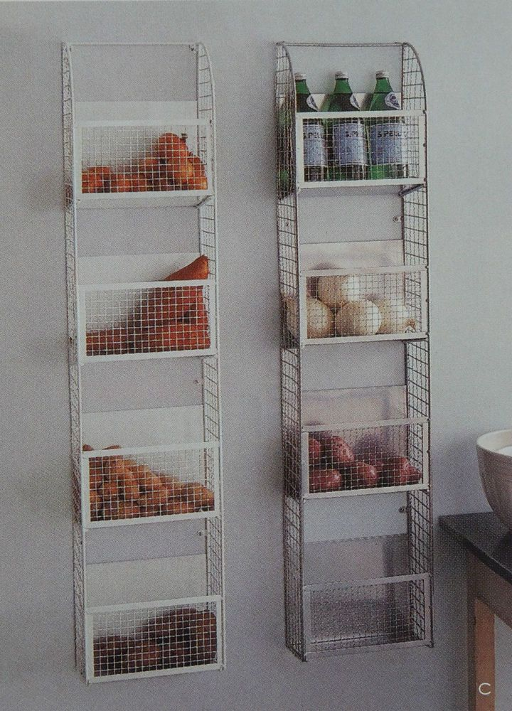 Martha Stewart By Mail Metallic Wirework Wall Rack Shelf Catalog For
