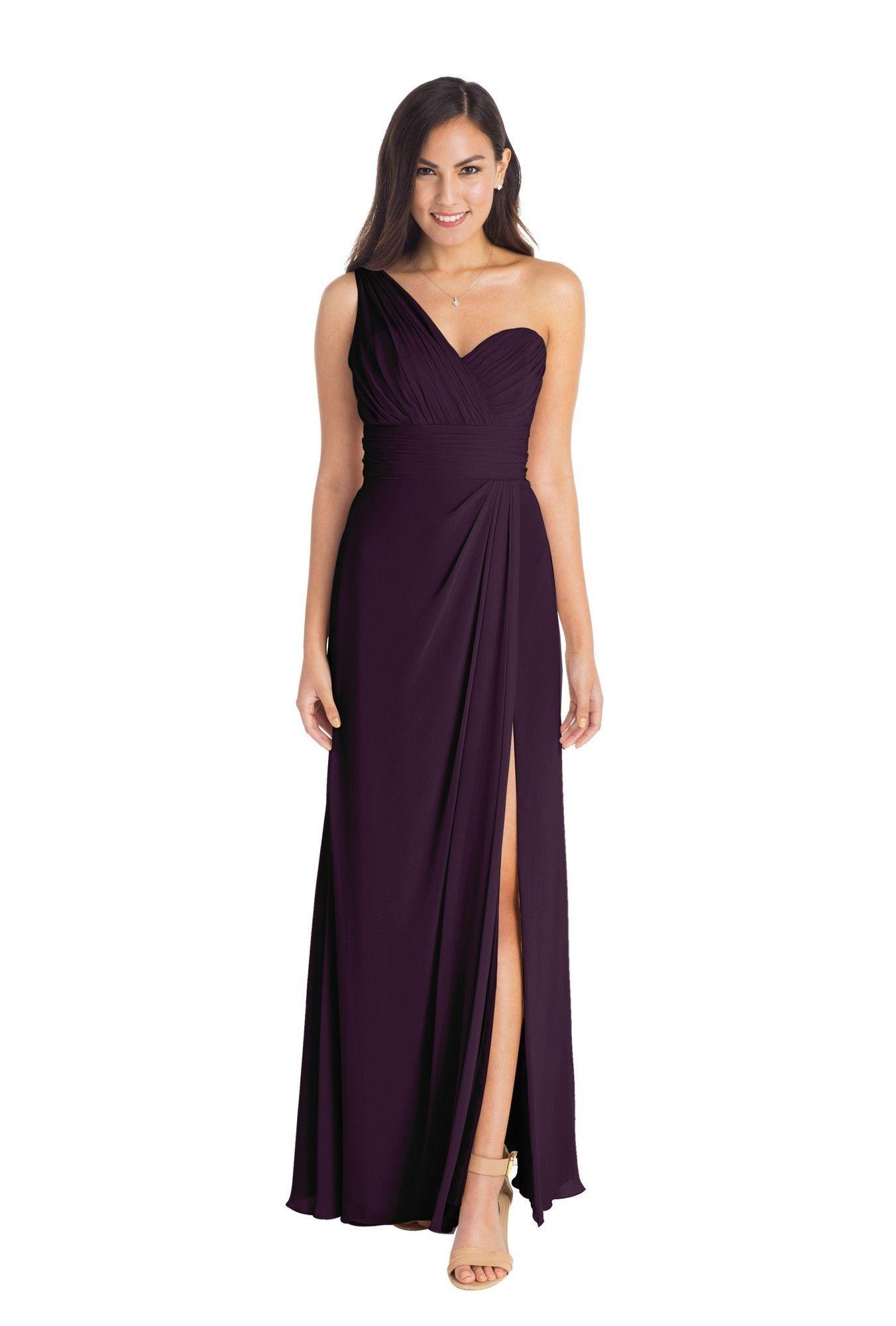 One side strap wedding dress  Watters Tulip  Floor length gown