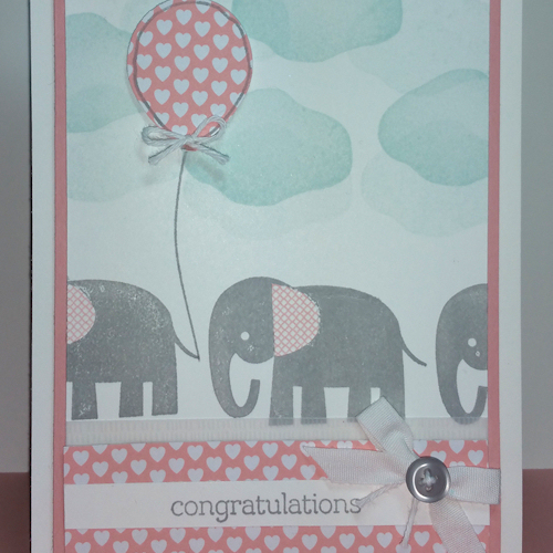Balloon Celebration, Balloon Bouquet Punch - Spring/Summer 2016 Stampin' Up! Combined with Zoo Babies from Stampin' Up!