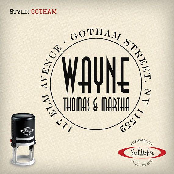 Custom Self Inking Address Stamp By Seal Maker Gotham