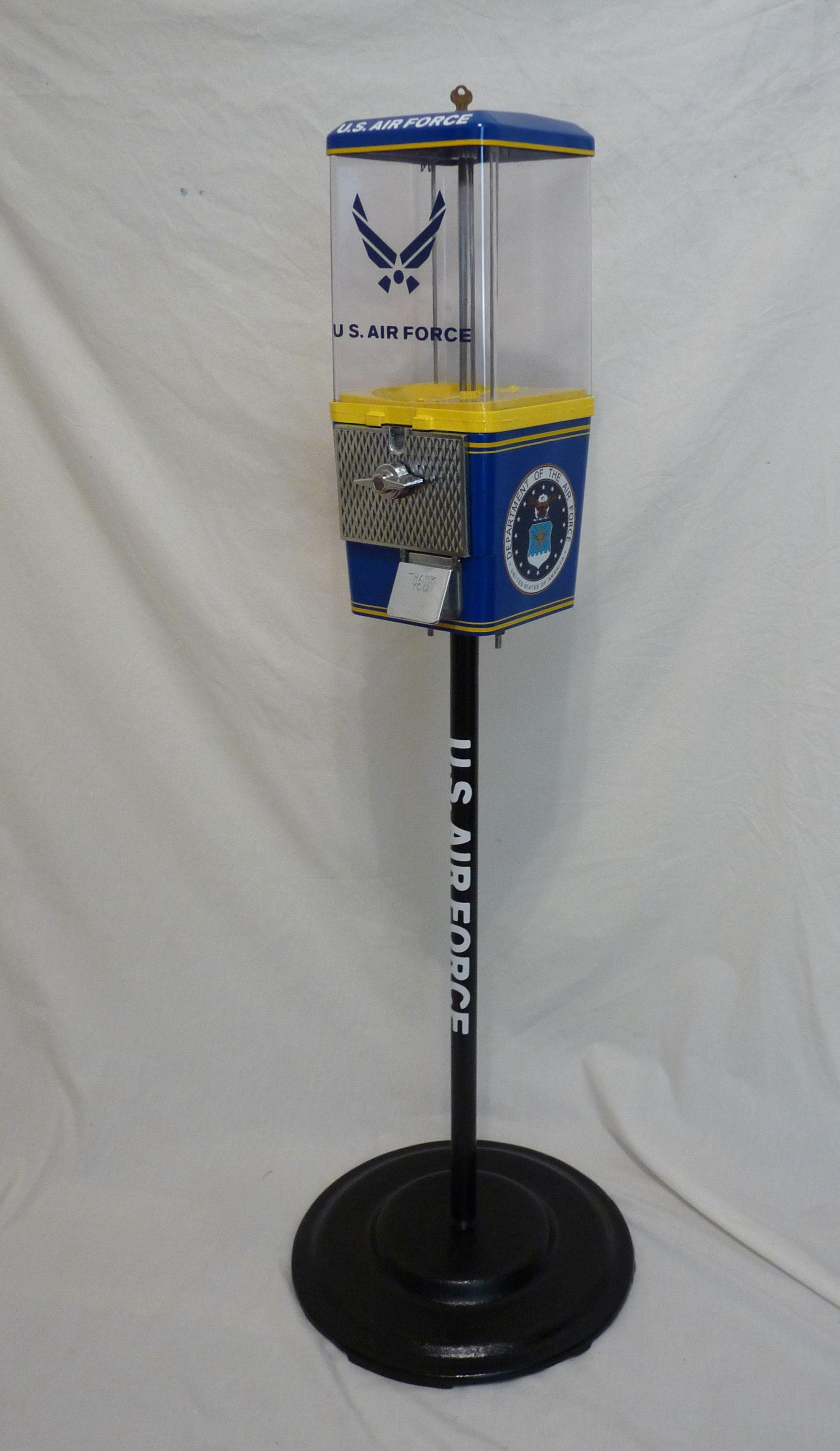 U. S Air Force custom gumball machine themed U>S Air force