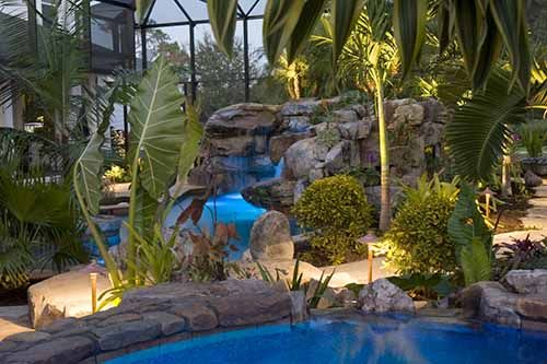 massive natural stone grotto waterfall and spa lucas lagoons inc