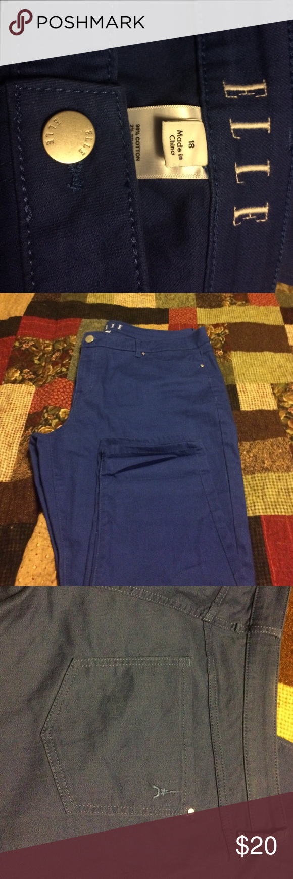 Elle royal blue jeans Elle royal blue pants Elle  Pants Ankle & Cropped