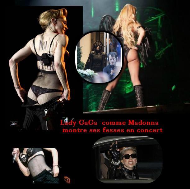 Lady GaGa comme Madonna montre ses fesses en concert_mesfavorisites.com