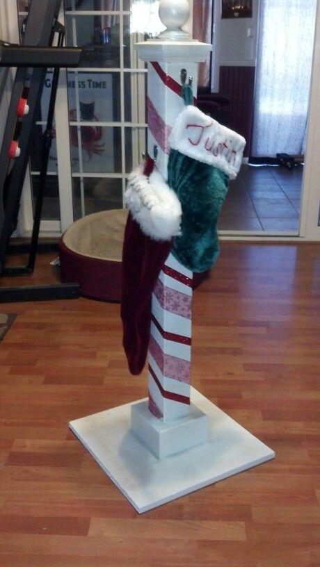 No Mantle Mantel No Problem Diy Christmas Xmas Stocking Holder