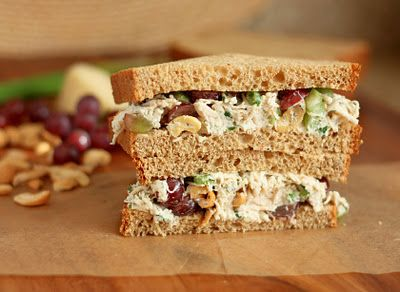 Dill Chicken Salad Sandwiches - my friend Paula used to make these, and you would never guess the secret ingredient... cashews.