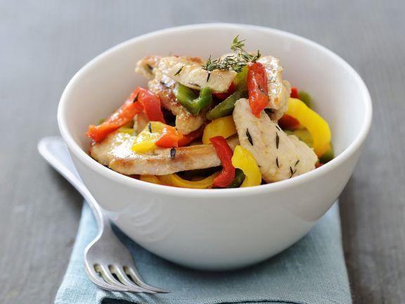 Probieren Sie das leckere Putenfilet mit Paprika von EAT SMARTER oder eines unserer anderen gesunden Rezepte!
