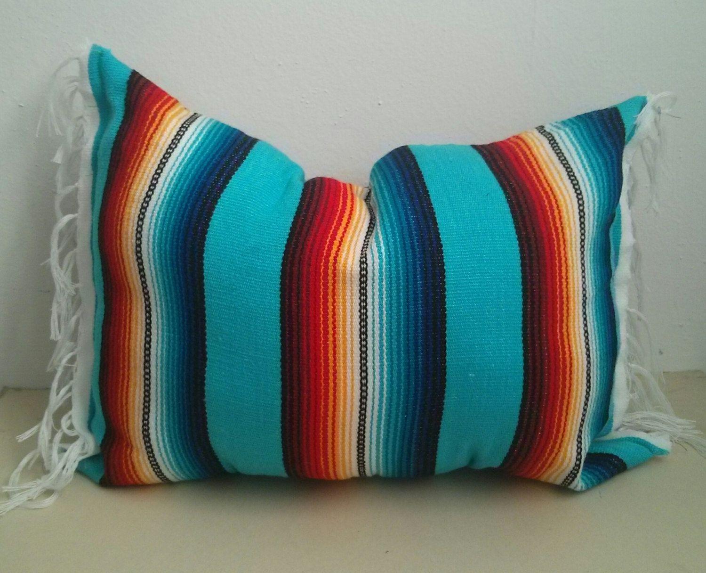 mexican blanket pillow / urban outfitters decor / summer pillow ...