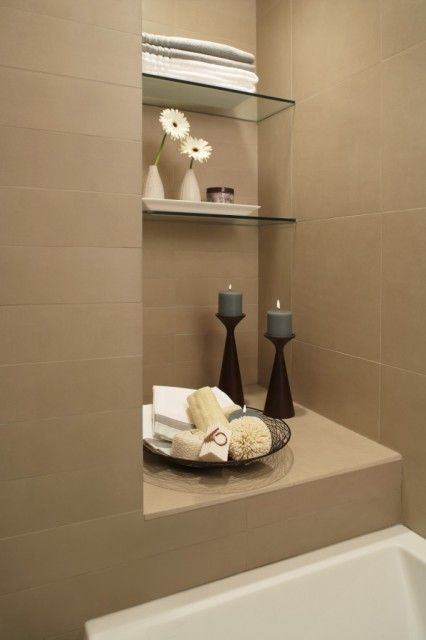 I wonder if we could do a recessed area in the tub/shower area ...