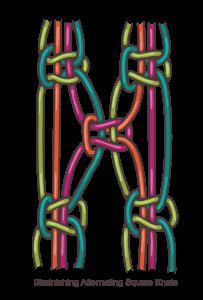 How To Macrame Alternating Square Knots Macrame