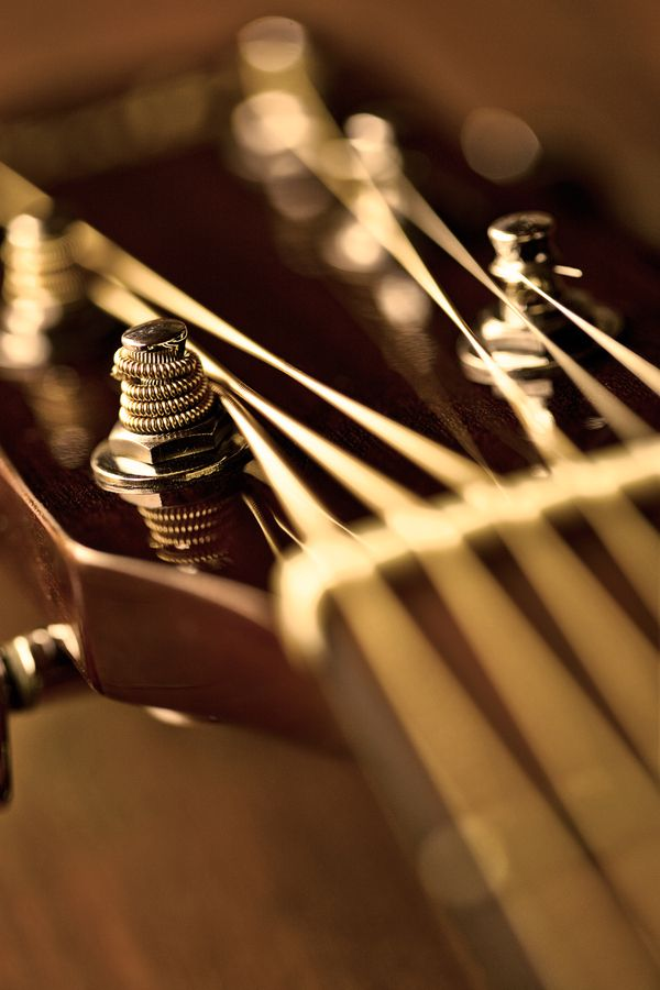 """""""Acoustic guitar golden"""" by Mauro Ramos, via 500px."""