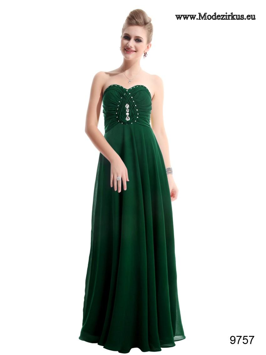 Wunderschönes Bustierkleid für Hochzeitsgäste in Dunkel Grün