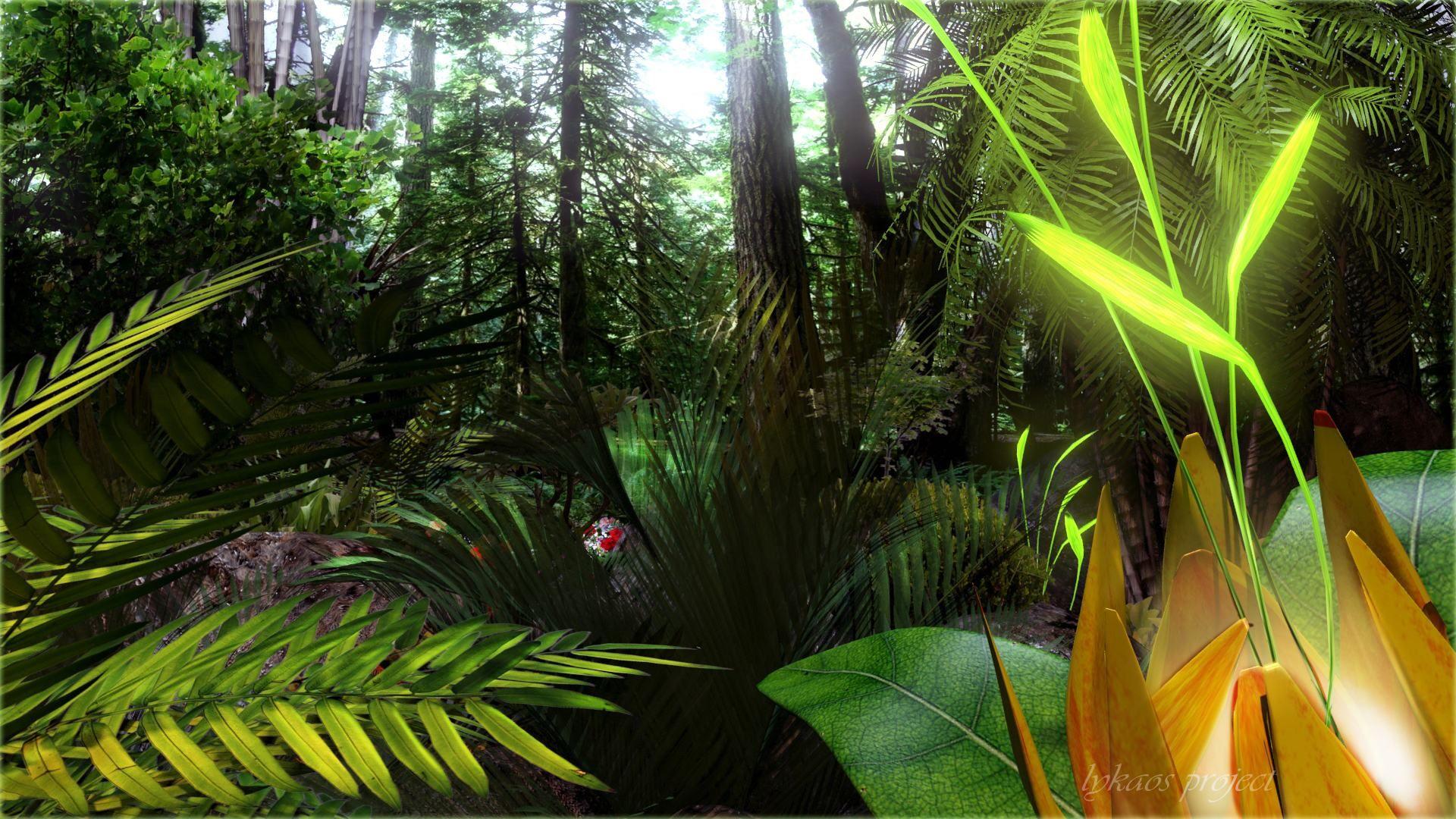 фото джунглей на рабочий стол внешнему описанию лист