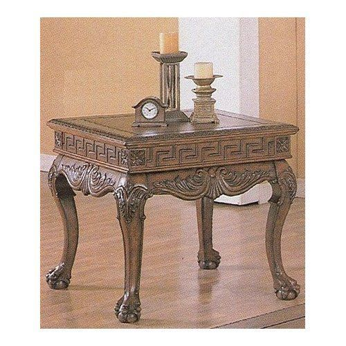 Ball And Claw Foot Dark Brown End Table By Coaster Home