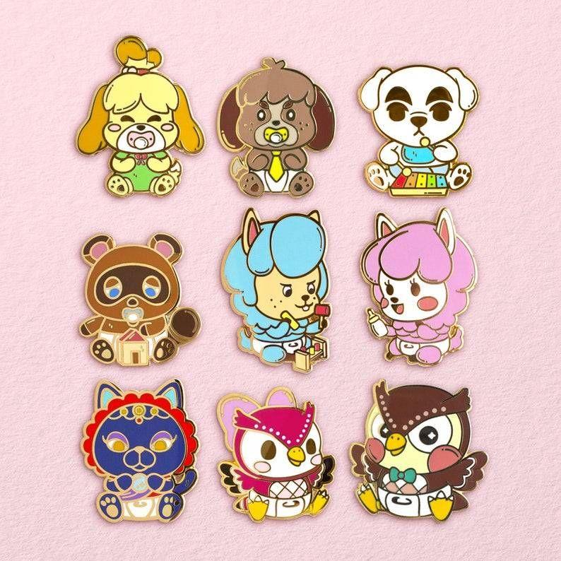 Animal Crossing Baby Villager Pins Made By Lunasol Lunasol