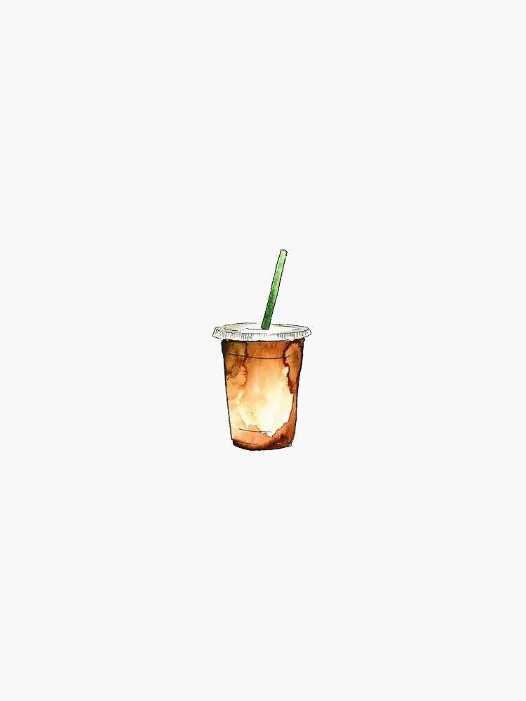 'iced coffee' Sticker by stickersnstuff