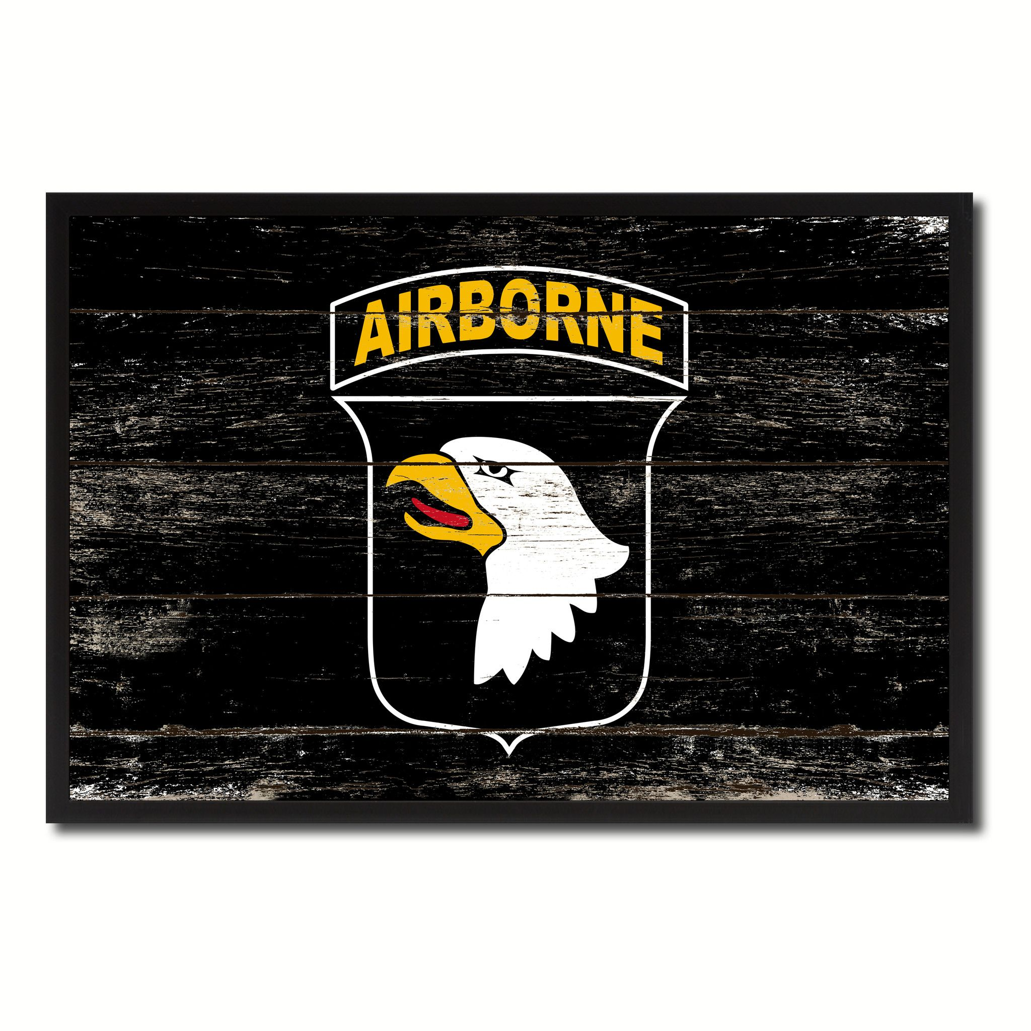 Us army 101st airborne military flag vintage canvas print with us army 101st airborne military flag vintage canvas print with picture frame home decor man cave wall art collectible decoration artwork gifts jeuxipadfo Images