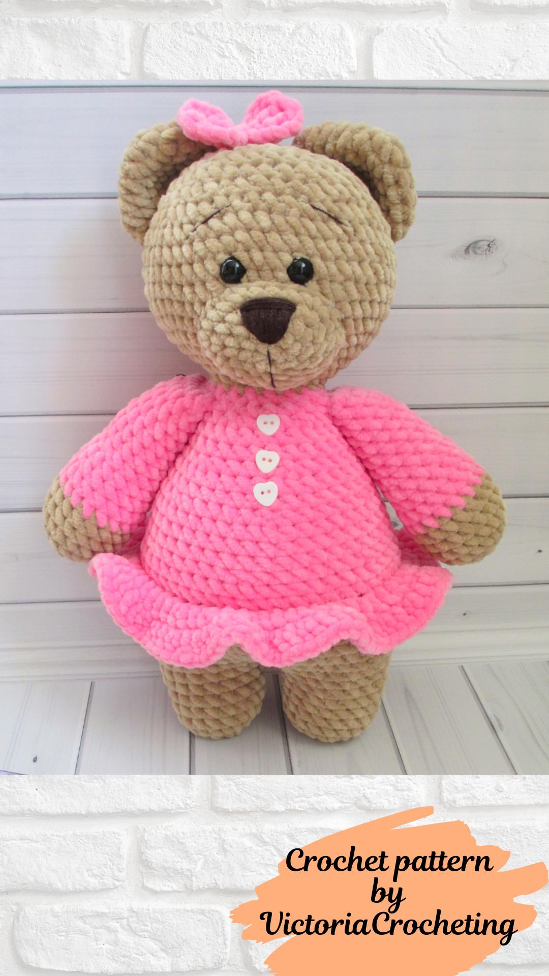 Easy Crochet pattern Big bear, Amigurumi pattern,