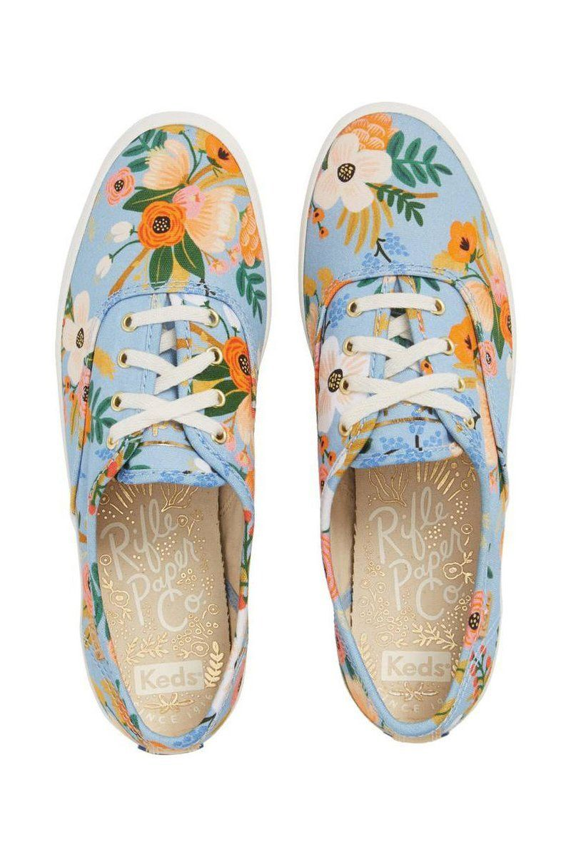 b62f78b30 Comfy Sneakers Perfect for Summer Dresses  Keds x Rifle Paper Co. Champion  Floral Print Sneaker