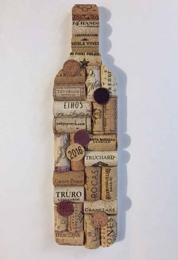 Photo of Recycled Cork Wine Bottle Wall Art Upcycled Home Decor