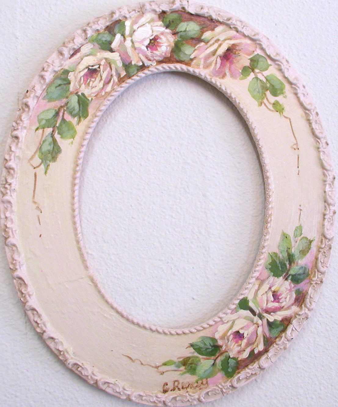 Diy Oval Mirror Frame Hp Vintage Frame C Repasy Some Of My Creations