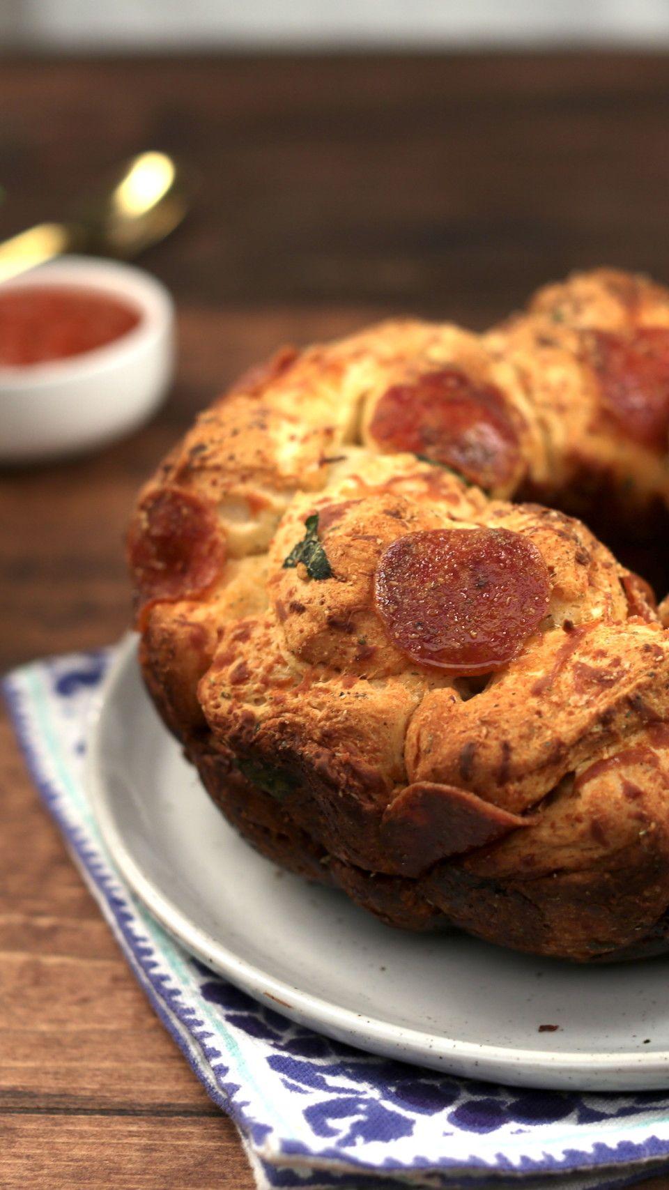 Pull Apart Pizza Balls Recipe Tastemade recipes, Fluff