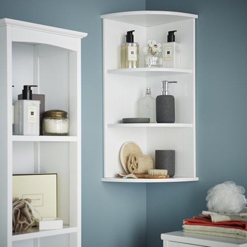 3 Tier Shaker Style Bathroom Corner Shelf