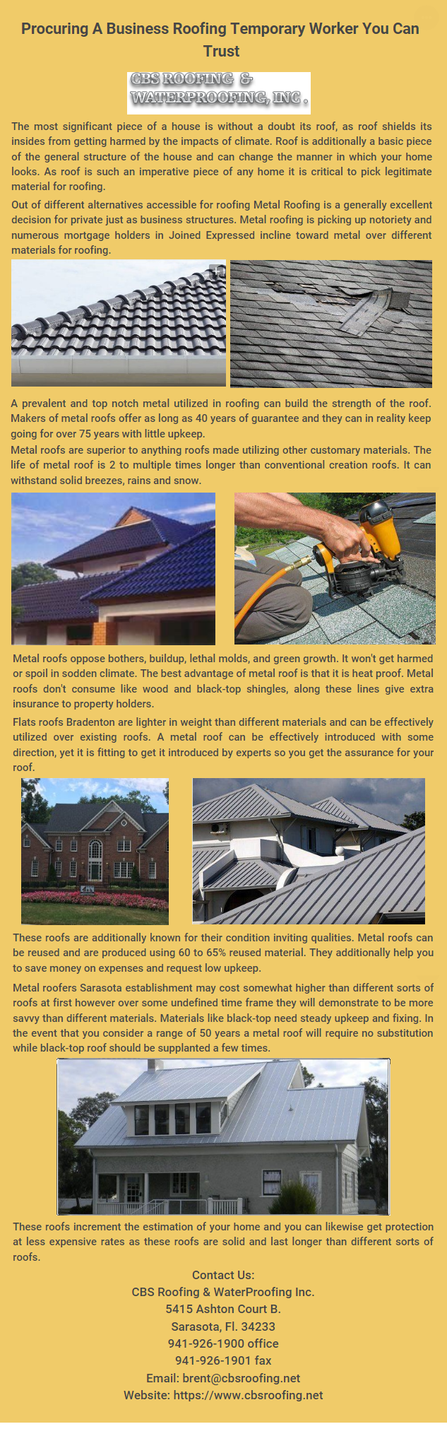 This Content Talks About Metal Roofing And Its Points Of Interest And How To Pick An Expert Roofing Temporary Worker At Ostensibl Roofing Roof Repair Shingling