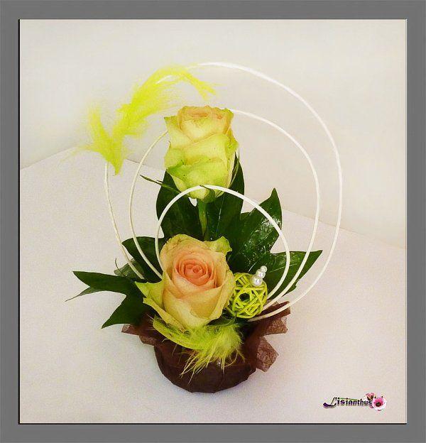 art floral bouquet cr ations florales de lisianthus art floral pinterest floral. Black Bedroom Furniture Sets. Home Design Ideas