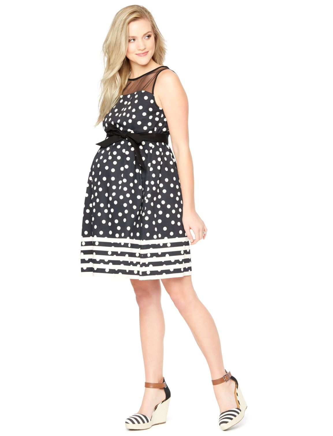 Dots stripes bows make for the perfect pregnancy dress dots stripes bows make for the perfect pregnancy dress sleeveless pleated maternity dress ombrellifo Choice Image