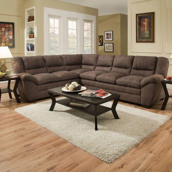 Simmons 9511 Sectional Sofa Palermo Mocha Hope Home Furnishings And Flooring Sala
