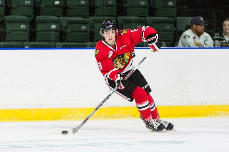 Cody Glass Hat Trick Leads Hawks To 9 2 Victory Over Calgary Saturday Isn Whl Veterans Memorial Moda Center
