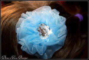 Chiffon Rosette Hair Clip  www.divasntutusboutique.ecrater.com