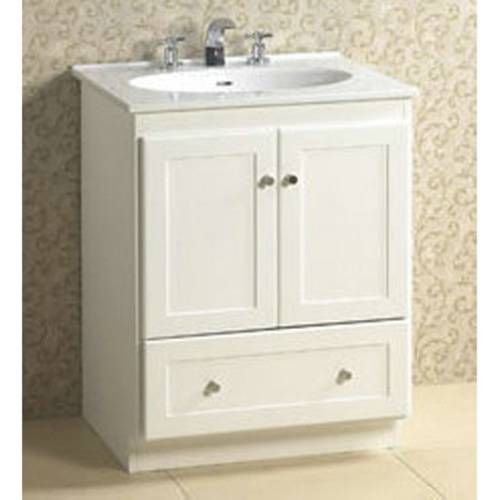"Bathroom Vanity 24 X 21 ronbow 080824-3 shaker 24"" vanity cabinet with 2 wood doors and"