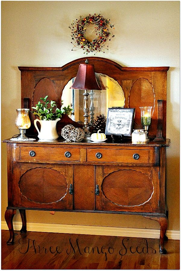 Three Mango Seeds Fall Decorating In The Dining Room Sideboard Decor Buffet Decor Decor