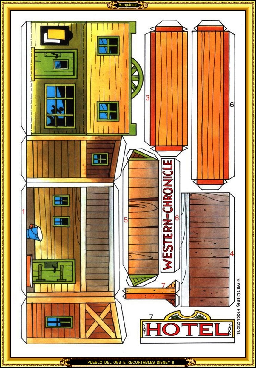 Recortables Disney Cutouts Disney Paper doll house