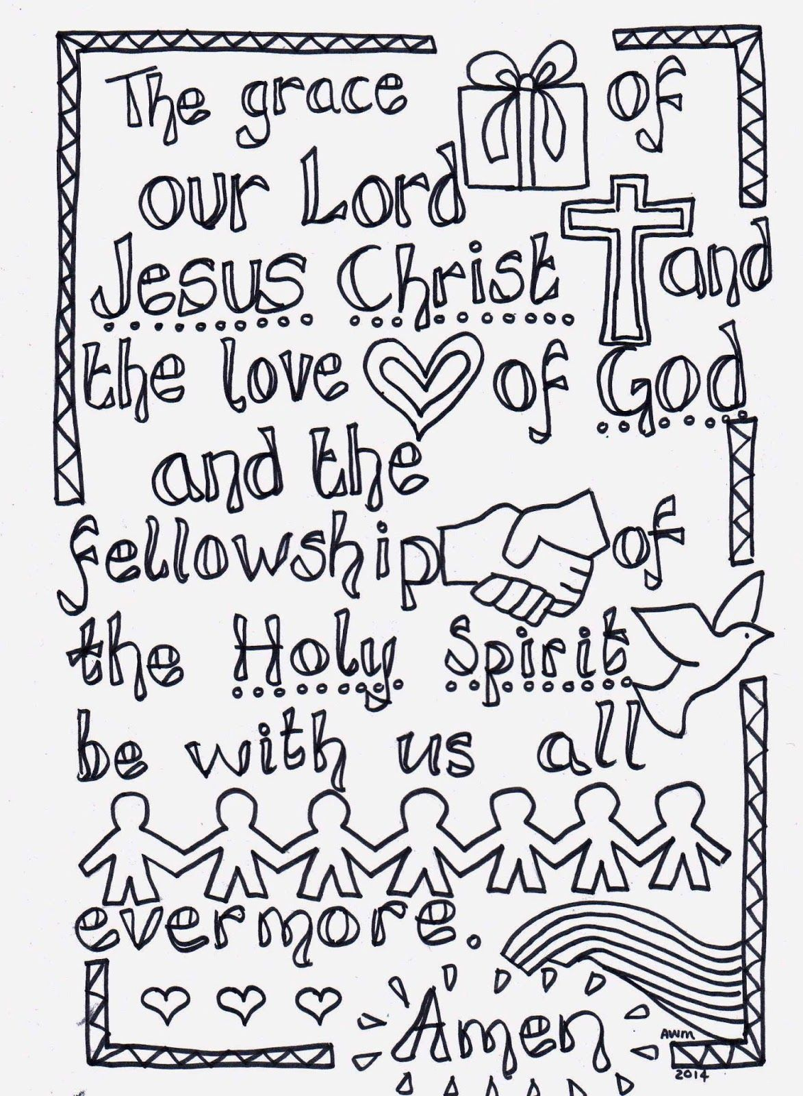 Flame creative childrenus ministry colour in prayers